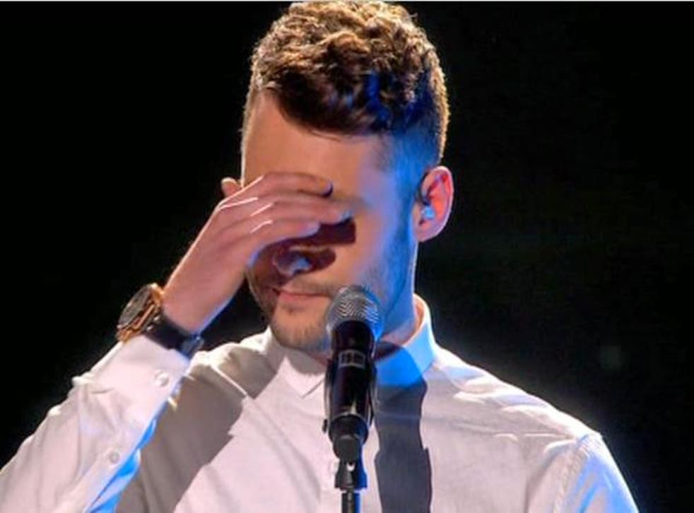 Calum Scott's performance on BGT final falls apart
