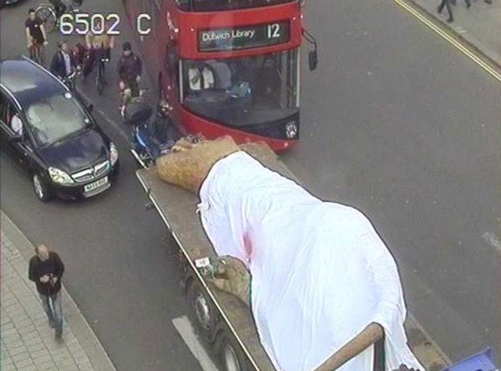 Transport for London put out CCTV images of the dinosaur on Twitter