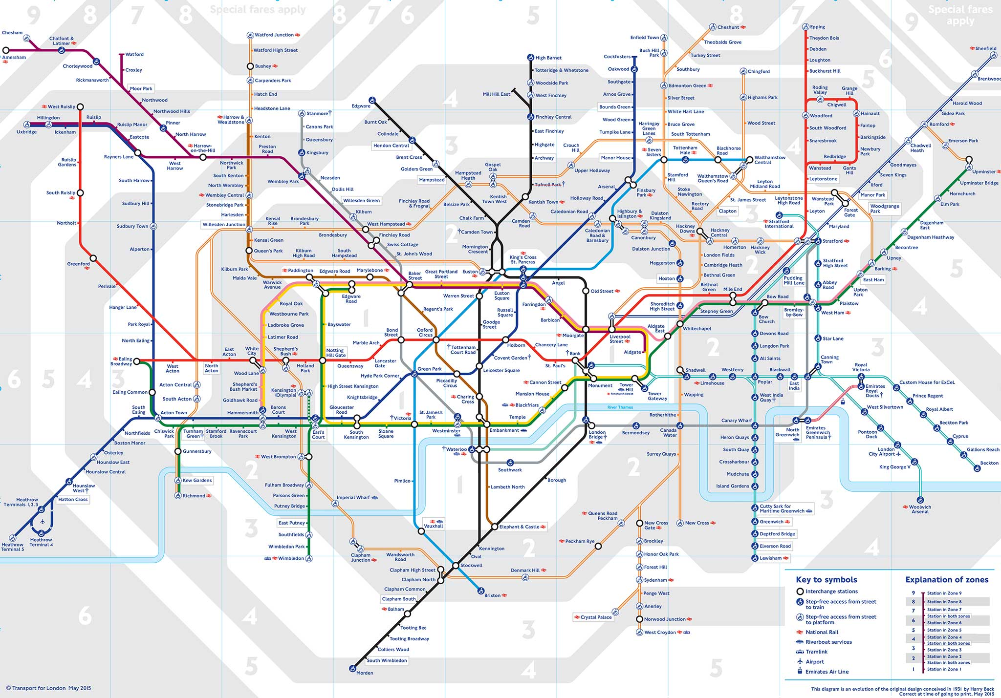the new map shows where rail lines will be absorbed by transport for london