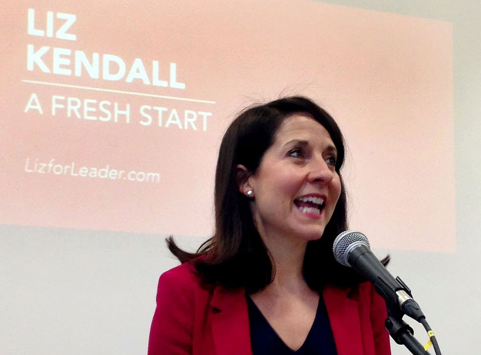 Labour leader contender Liz Kendall speaks at De Montfort University Leicester, where she made a pitch for party votes in the party's leadership contest