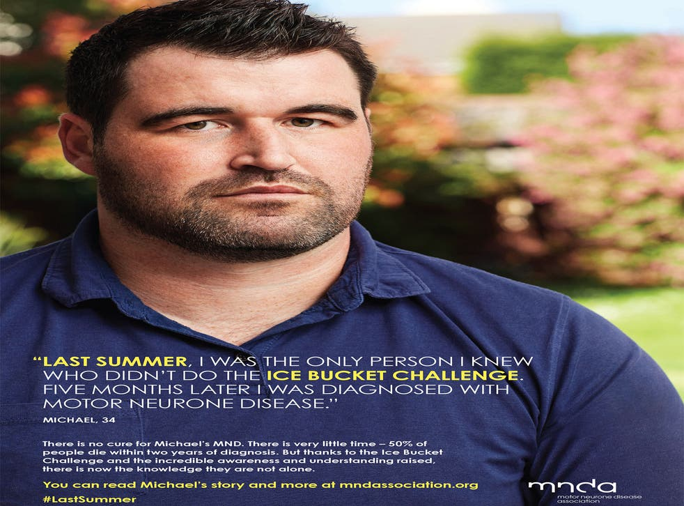 The controversial Motor Neurone Disease Association poster, featuring sufferer Michael Smith, has drawn a series of angry complaints