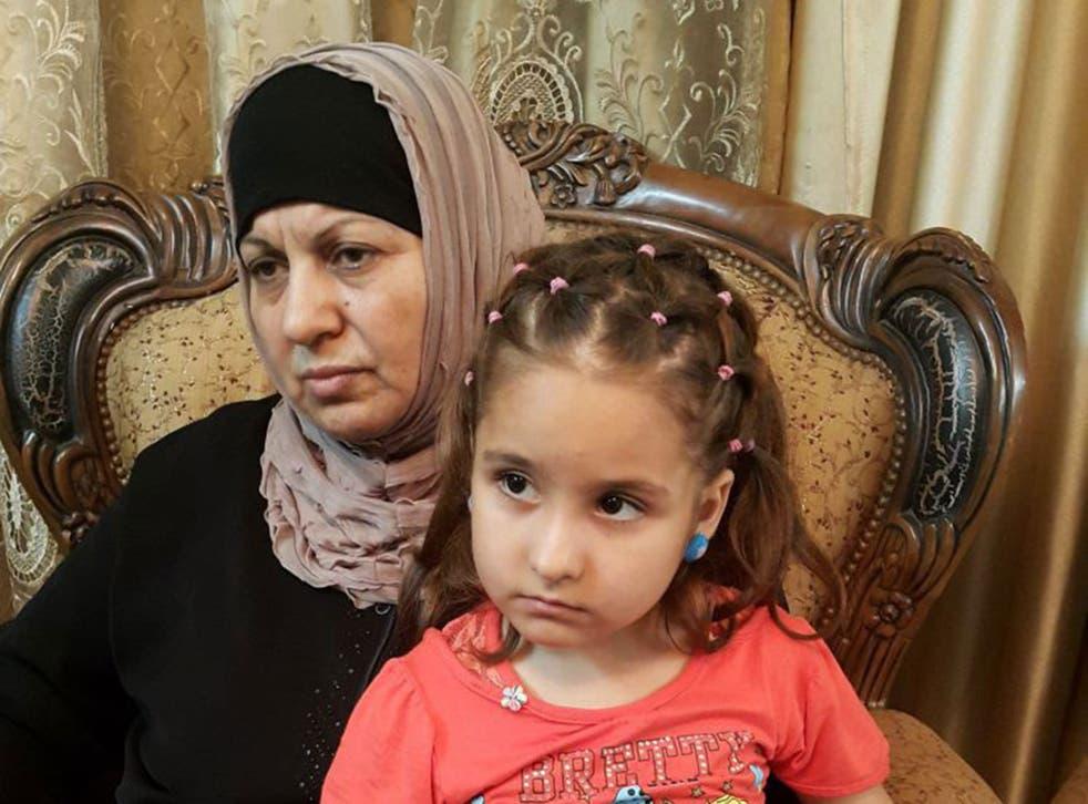 Sahar Qanbar with her grandmother