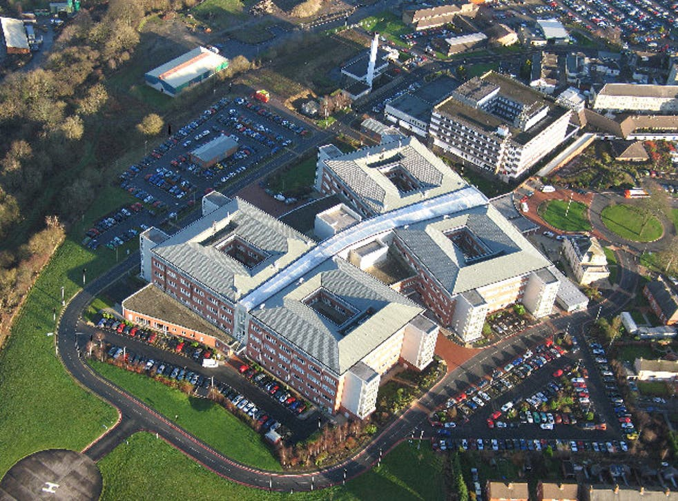 Cumberland Infirmary, Carlisle. The flagship of the national PFI programme was officially opened by the Rt. Hon. Tony Blair, Prime Minister, in June 2000