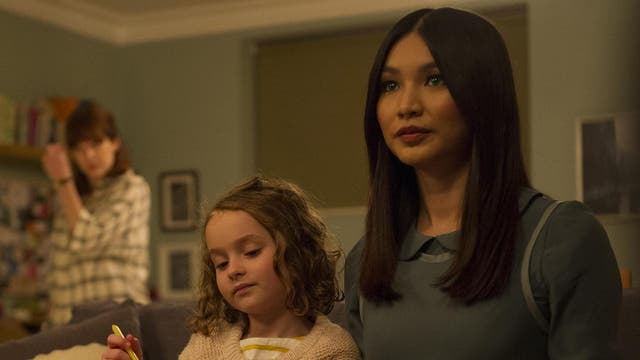 Pixie Davies as Sophie Hawkins and Gemma Chan as Anita bring a spooky new family setting to life in Humans