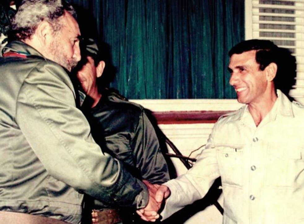 Fidel Castro with Juan Reinaldo Sanchez (right)