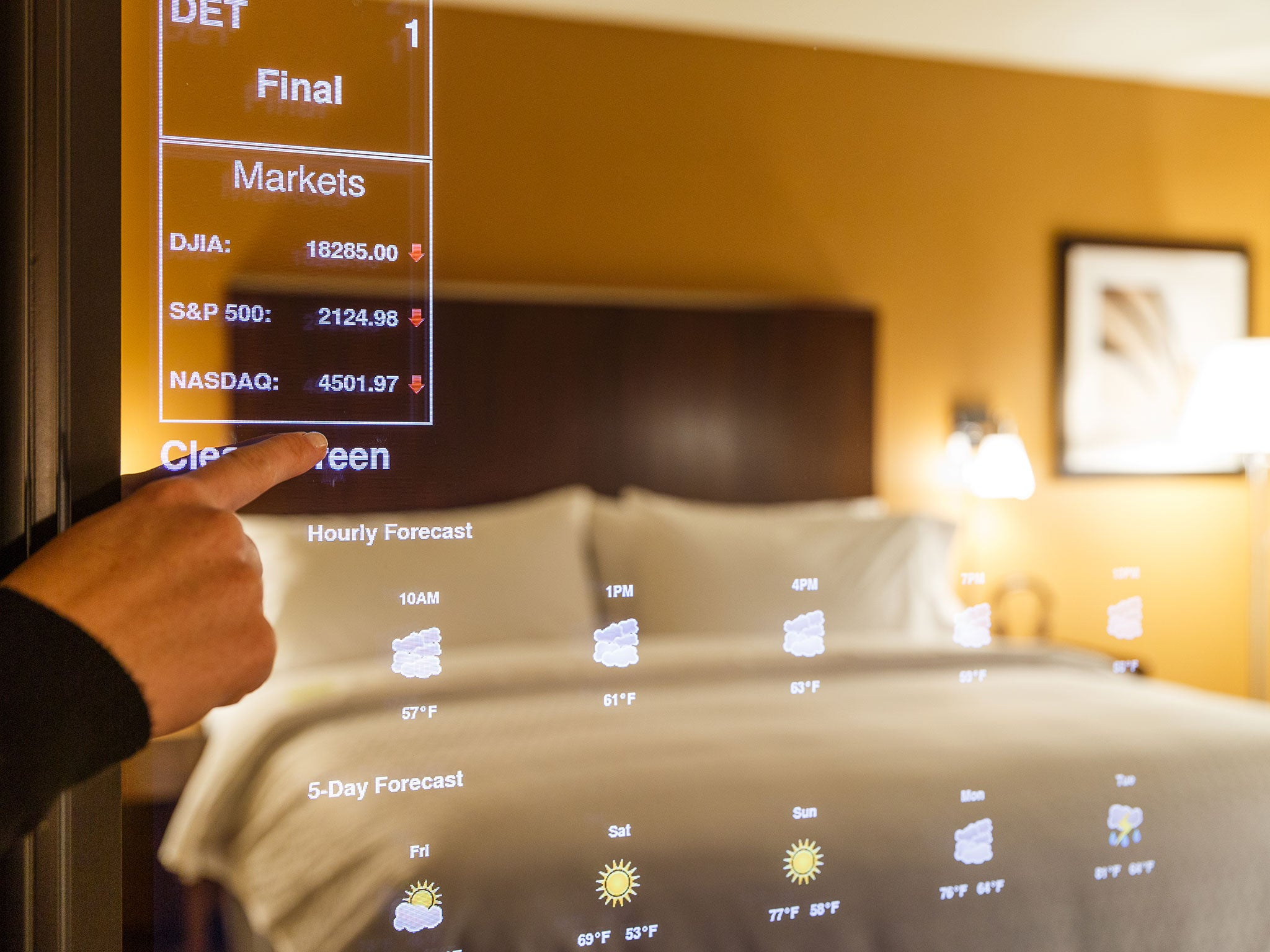 Hotels of the future chains are stocking with everything for Hotel the mirror