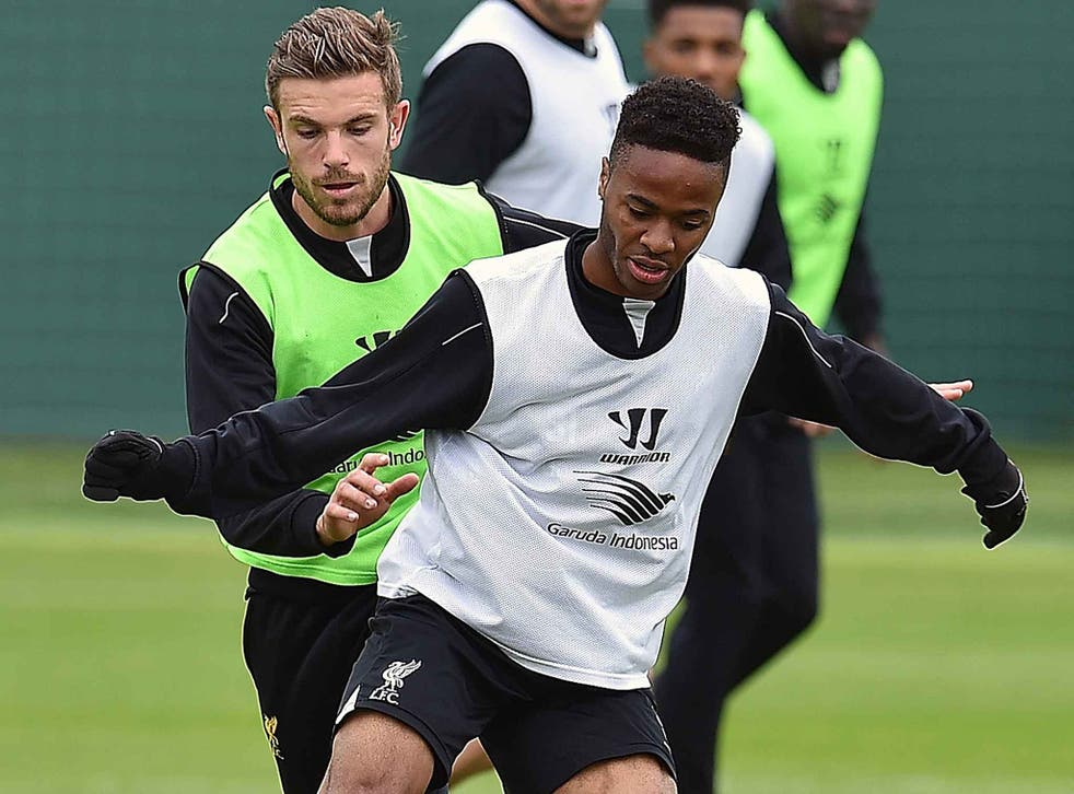 Henderson and Sterling in training for England