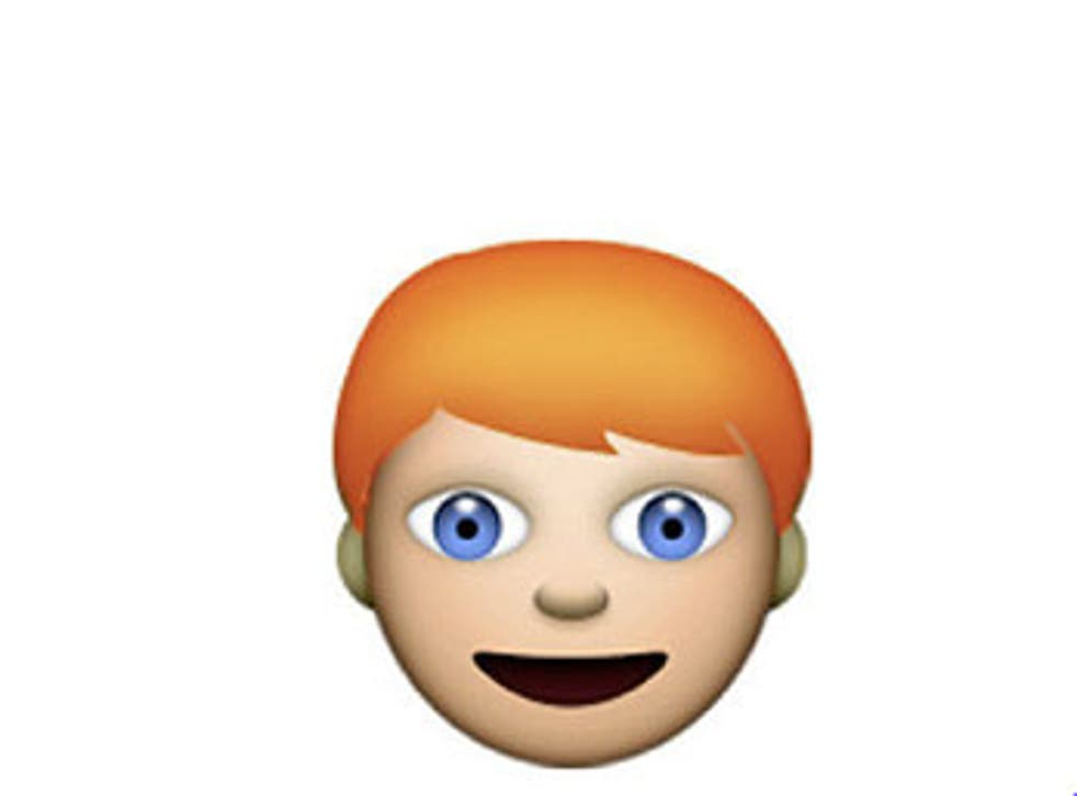 The ginger emoji could look like this