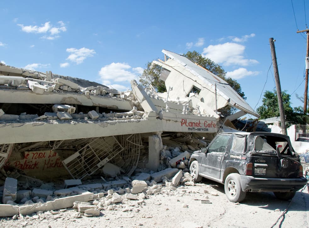 The aftermath of the 2010 eathquake in Haiti