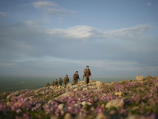 Kurds on patrol in the Makhmour district of Iraqi Kurdistan
