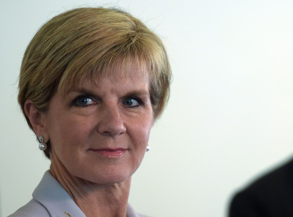 Julie Bishop, Australia's Minister for Foreign Affairs