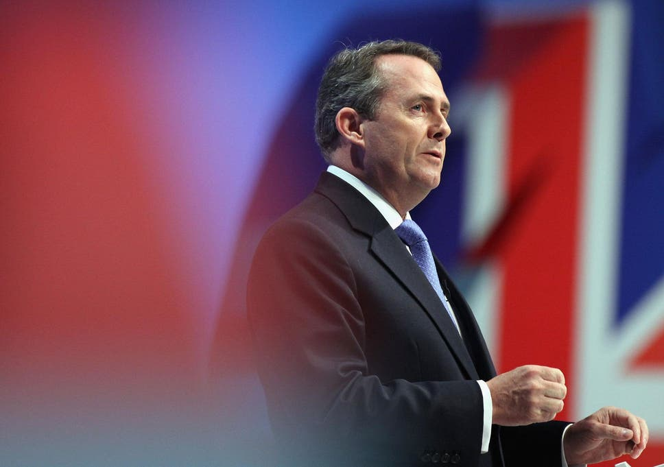 Image result for Liam Fox Speaking