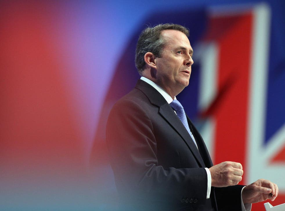 Liam Fox, the International Trade Secretary said people who 'created nothing' would not be welcome