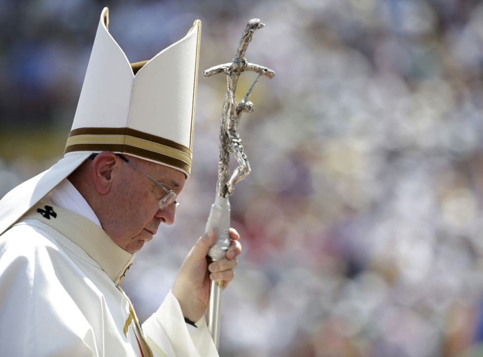 The Pope celebrating Mass on Saturday