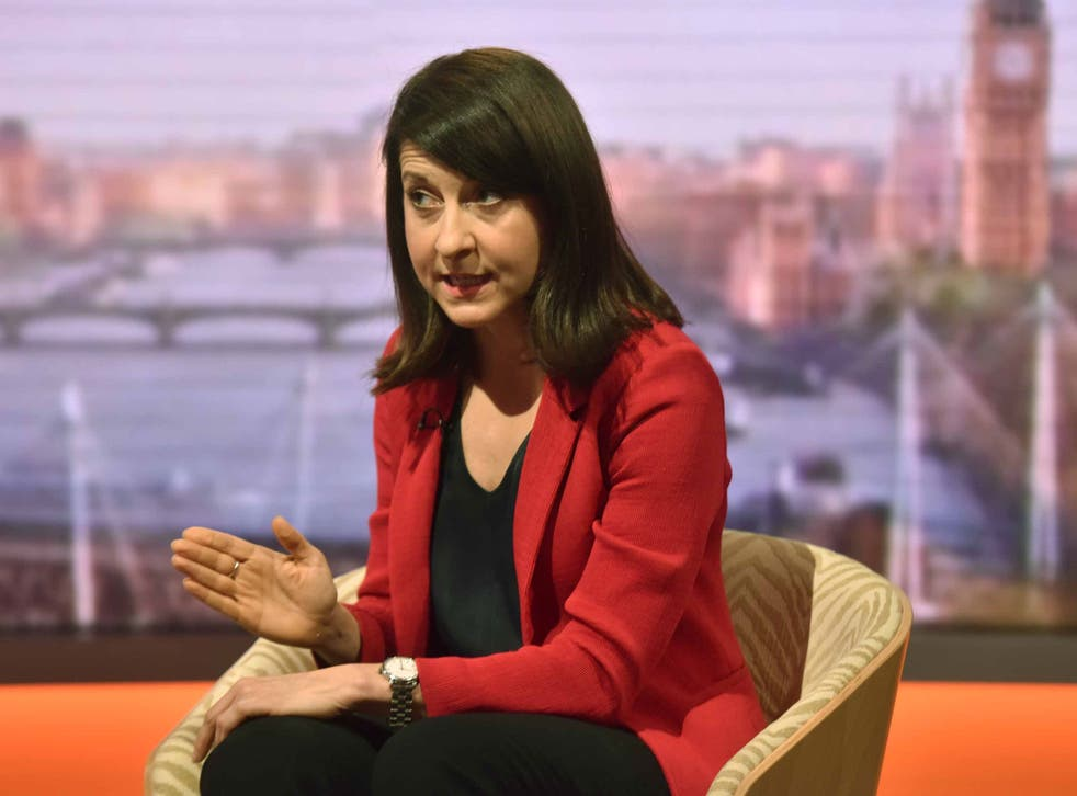 Labour leadership hopeful Liz Kendall appears on the BBC's The Andrew Marr Show