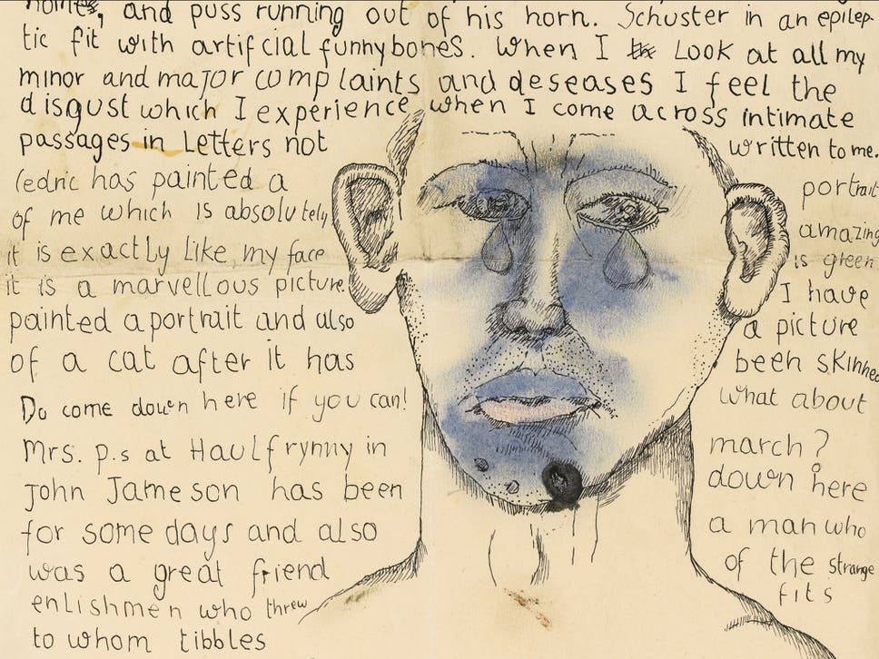 Notorious heterosexual lucian freuds letters suggest he had affair a letter from lucian freud to stephen spender sent in 1941 which contains a self portrait fandeluxe Gallery