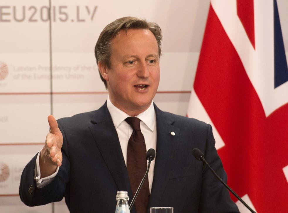 """The prime minister said his government would not be """"neutral"""" on the issue of EU membership"""