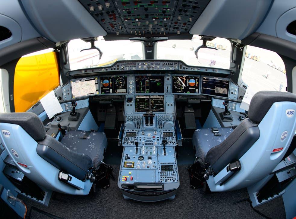 Interior view of a flight deck