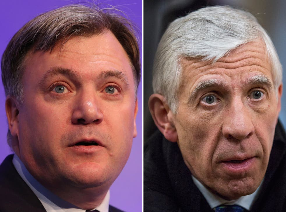 Ed Balls, left, and Jack Straw have both been omitted from the peerage list