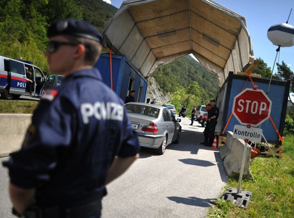 Police check cars in the Alps in the build-up to the Bilderberg conference