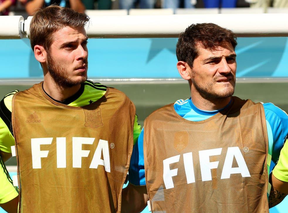 Iker Casillas and David De Gea at the World Cup