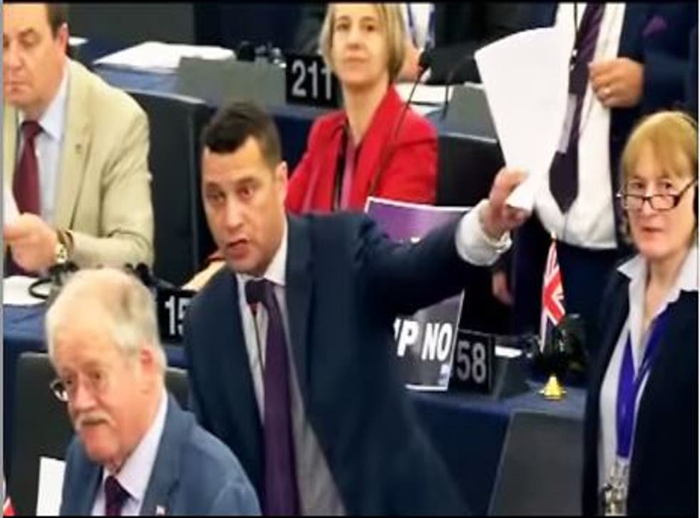Ukip MEP Steven Woolfe coordinated the protest against the delay in the vote on TTIP