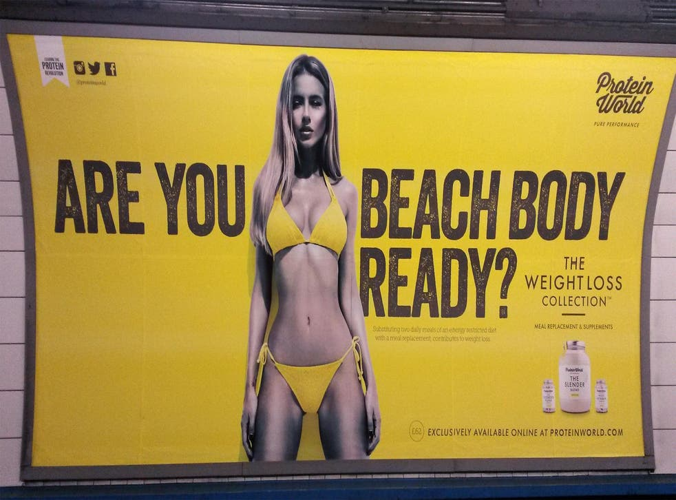 Hunger games: profits at Protein World were boosted in Britain by its controversial 'beach body' posters