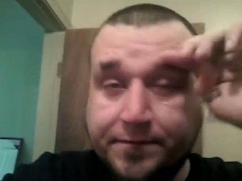 Man films himself in the middle of a panic attack 'to prove