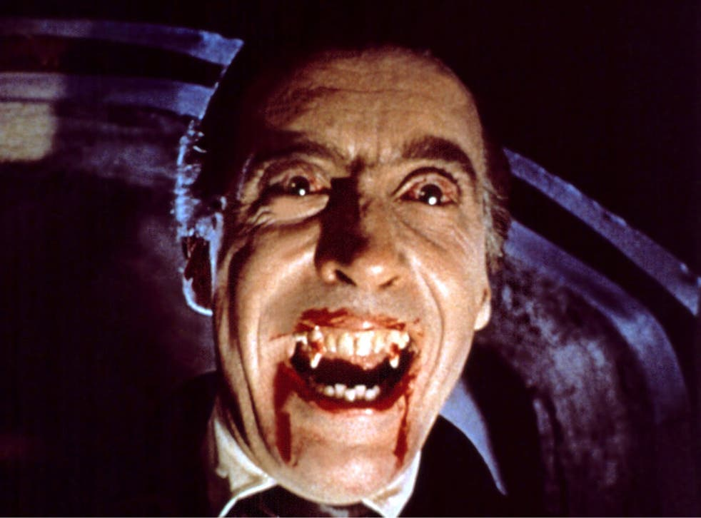 Christopher Lee as the bloodsucking vampire Count Dracula in 1958's Horror of Dracula