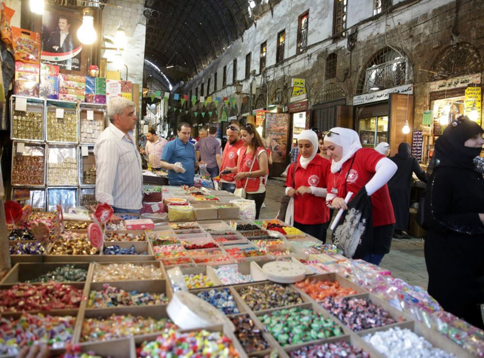 The markets of downtown Damascus