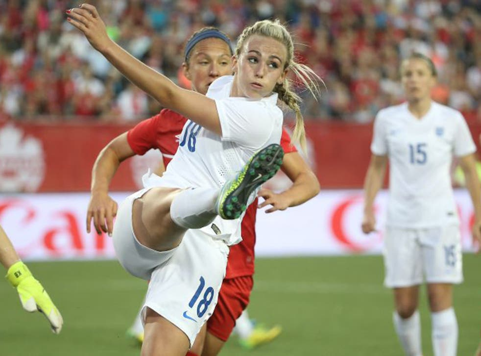 England Women's football star Toni Duggan; the opening game of the Women's World Cup pulled in more viewers than Sky Sports' coverage of Barcelona vs Juventus in the Champions' League final
