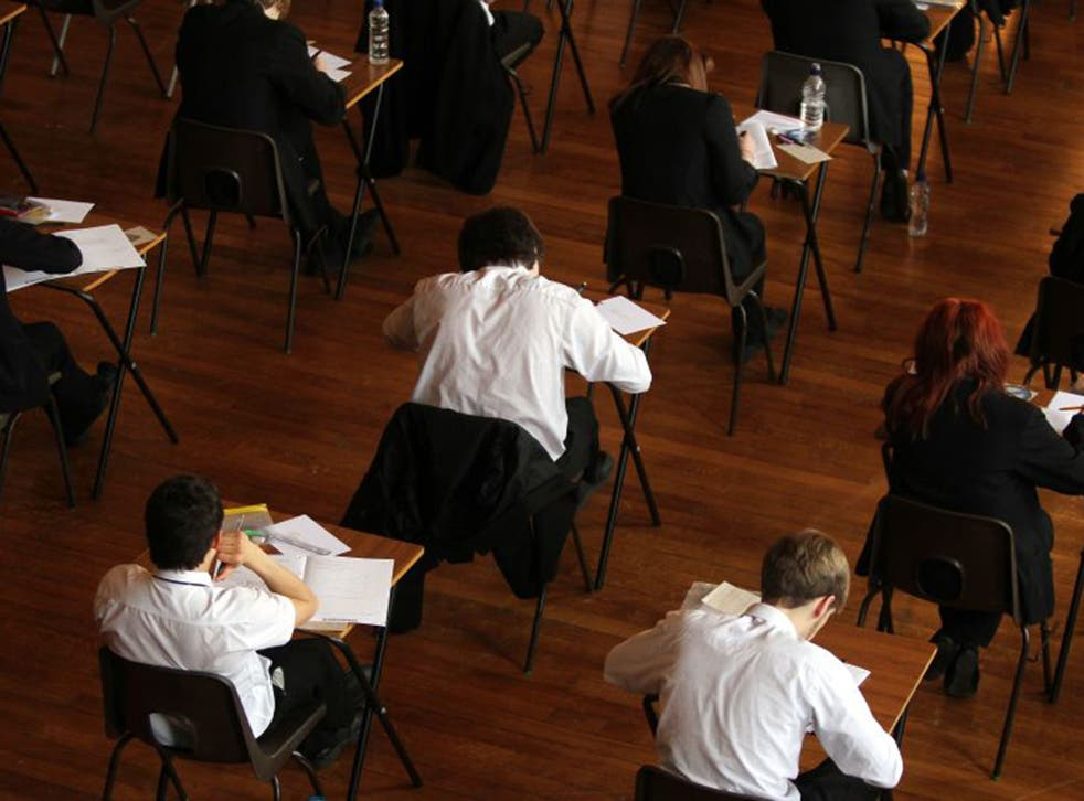 Pupils sit their A-level exams