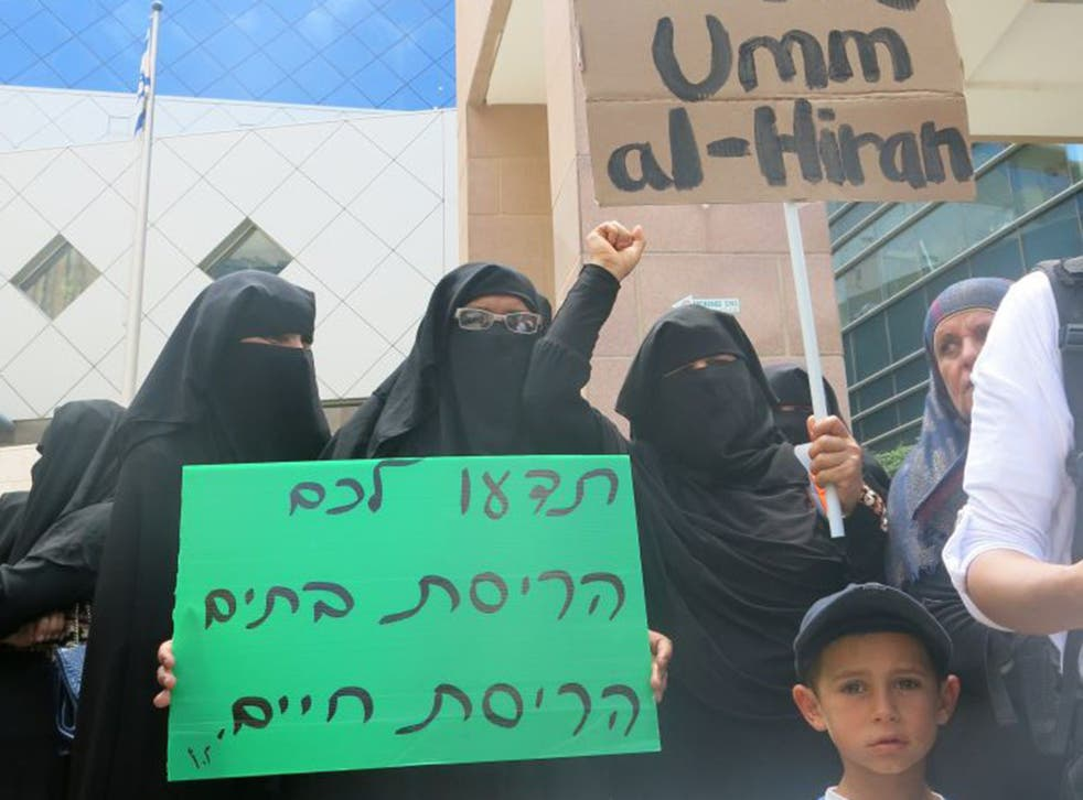 Protests in the Negev capital Be'er Sheva. Most of Israel's Bedouin, around 200,000, are in Israel's southern Negev desert