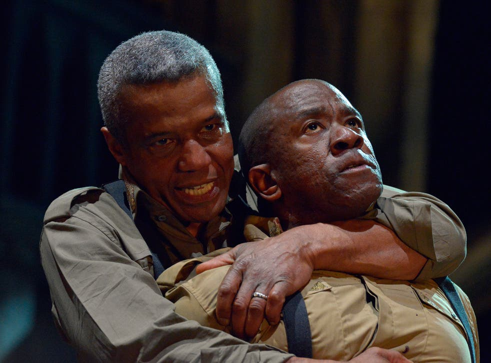 Hugh Quarshie and Lucian Msamati (front) in the new production of Othello