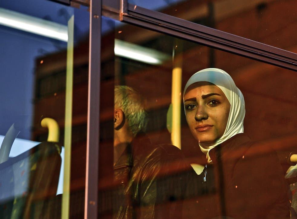 A Syrian refugee in Piraeus, near Athens