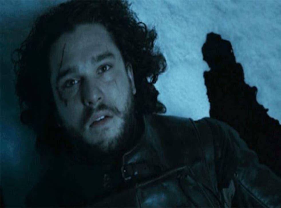 Jon Snow looking very much dead