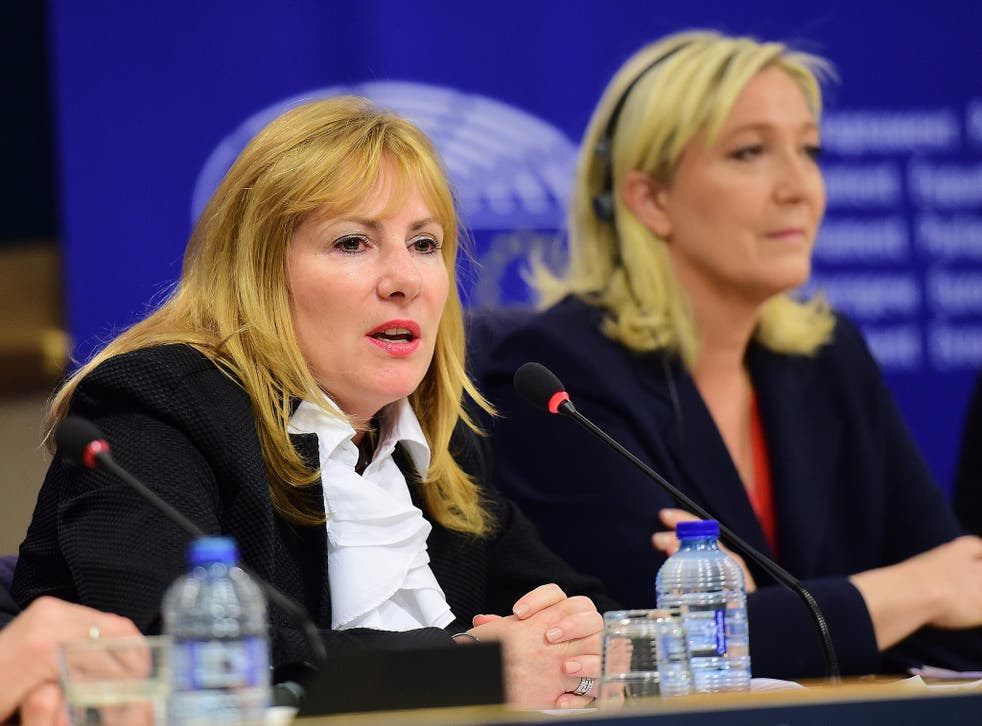 Janice Atkinson, seen here with political ally Marine Le Pen, has been helping the Conservative campaign in Gravesend, Kent