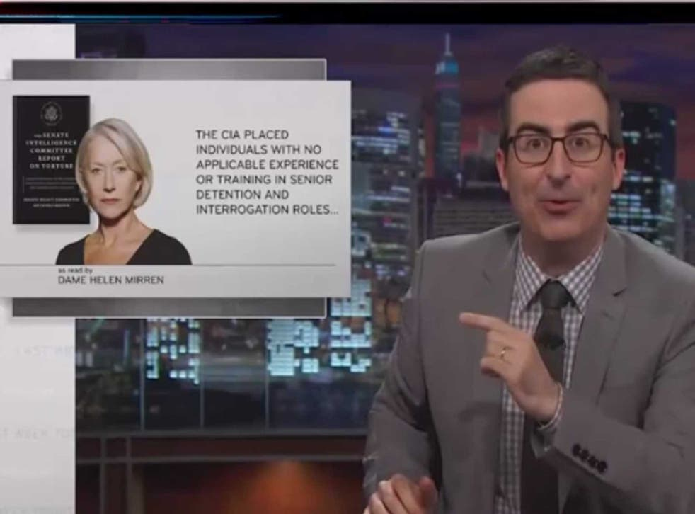 John Oliver attempts to interest the public on the torture report