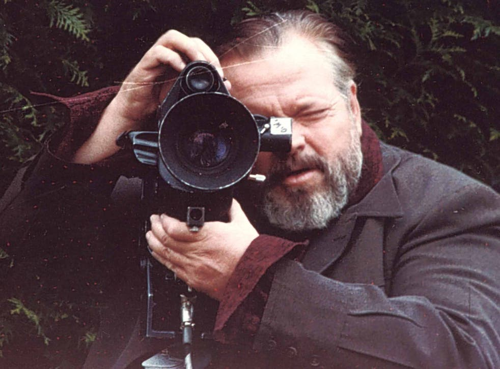 Shooting star: Orson Welles on set in the Seventies