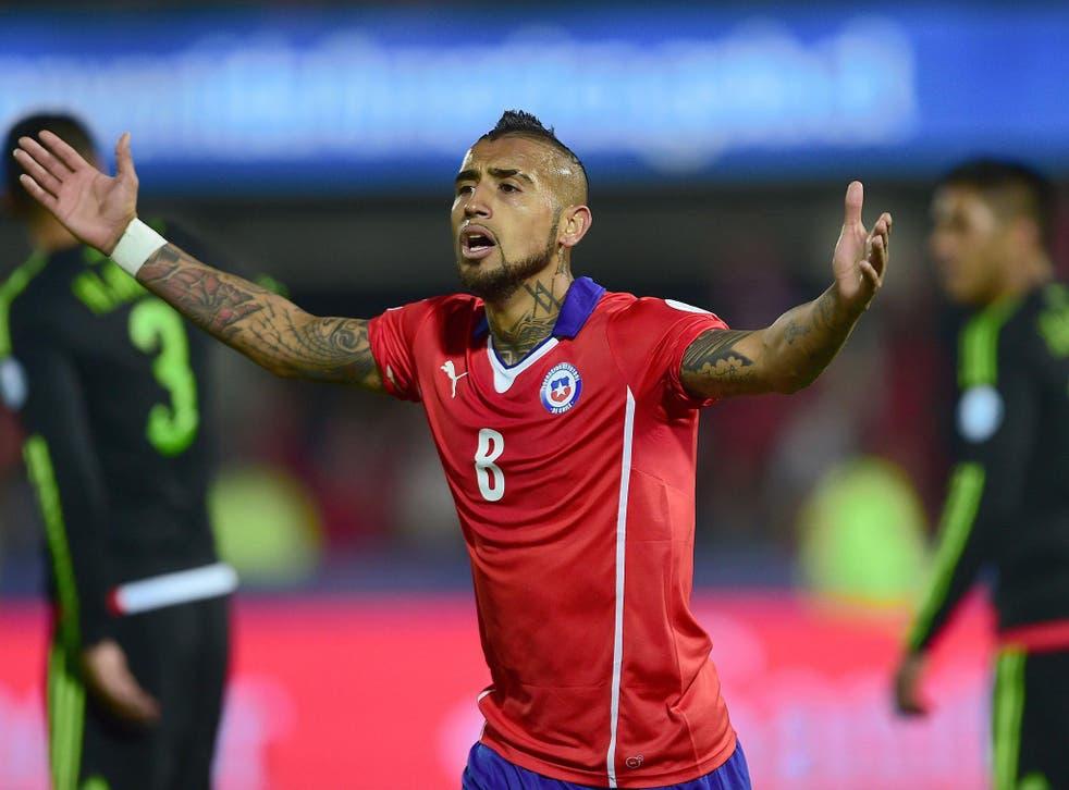 Chile midfielder Arturo Vidal