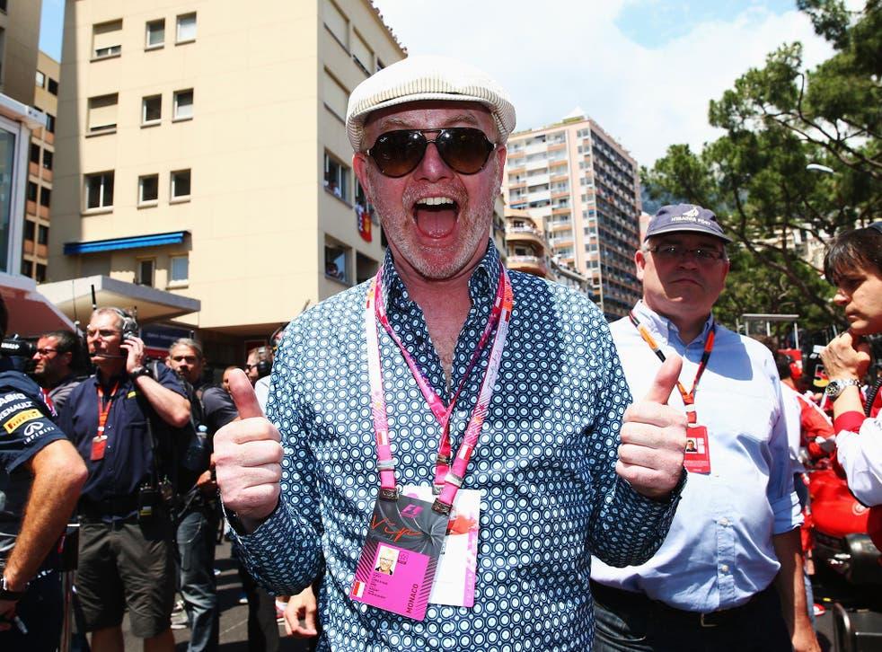 Radio 2 DJ Chris Evans attends the F1 Grand Prix of Monaco