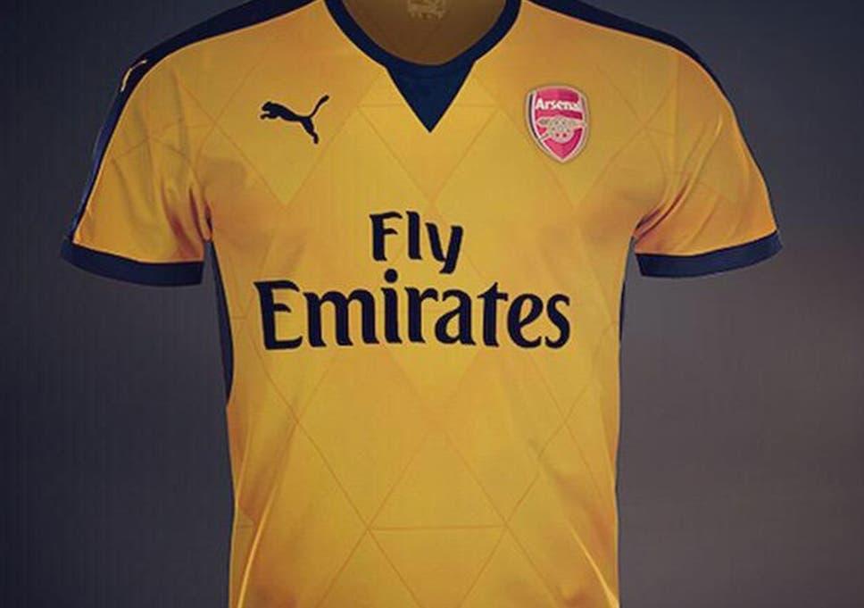 87f9faa2d Arsenal 2015 16 away shirt  Gunners  away strip leaked days after ...