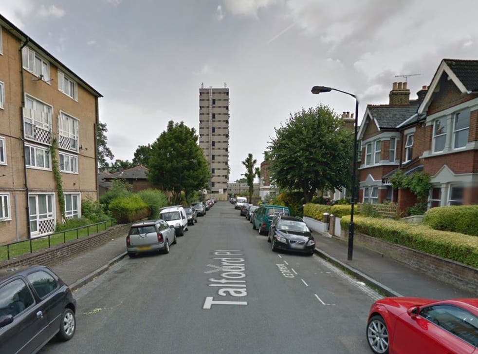 Talfourd Place, Peckham, where the attack took place