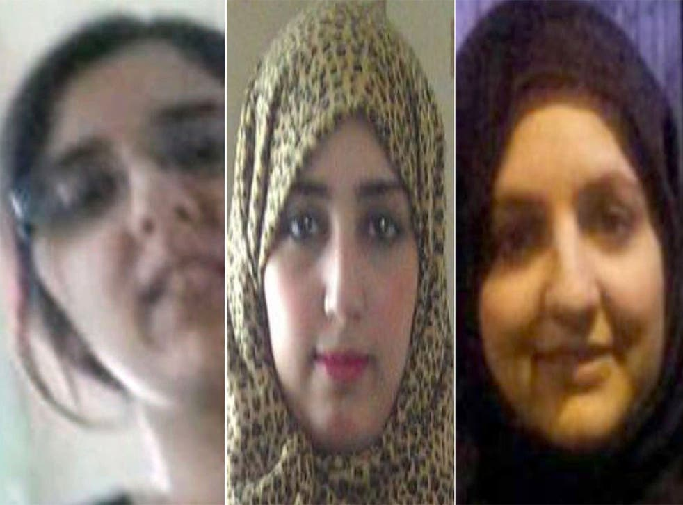 (From left) Sugra Dawood and her sisters, Khadija and Zohra
