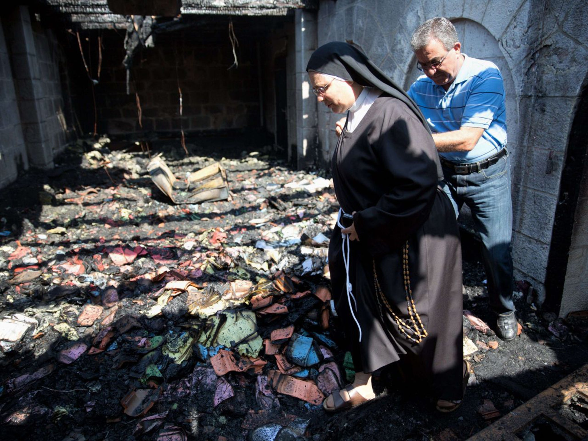 Jewish extremists suspected of torching Sea of Galilee 'loaves and fishes' church in Tabgha