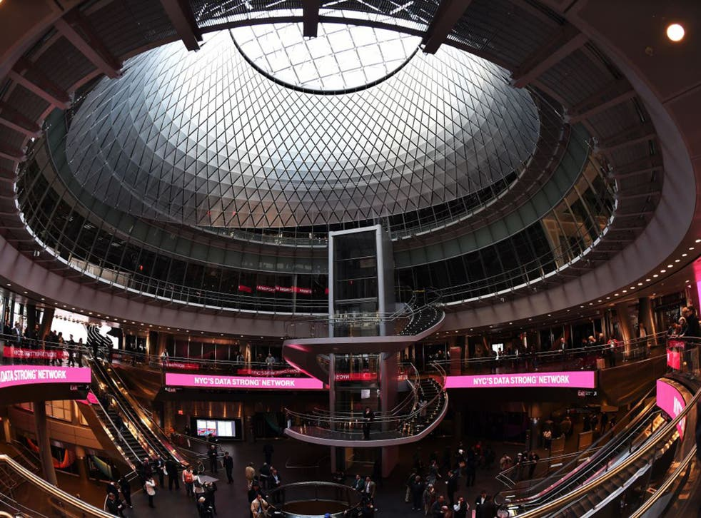 The 'Sky-Reflector Net', built into the Fulton Centre's dome, funnels light below ground