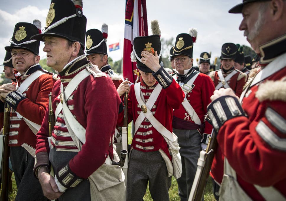 The Battle of Waterloo: Joining army of re-enacters