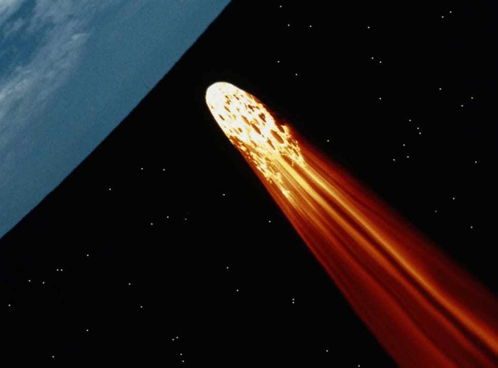 The asteroid or comet is around 400 metres wide (stock image)