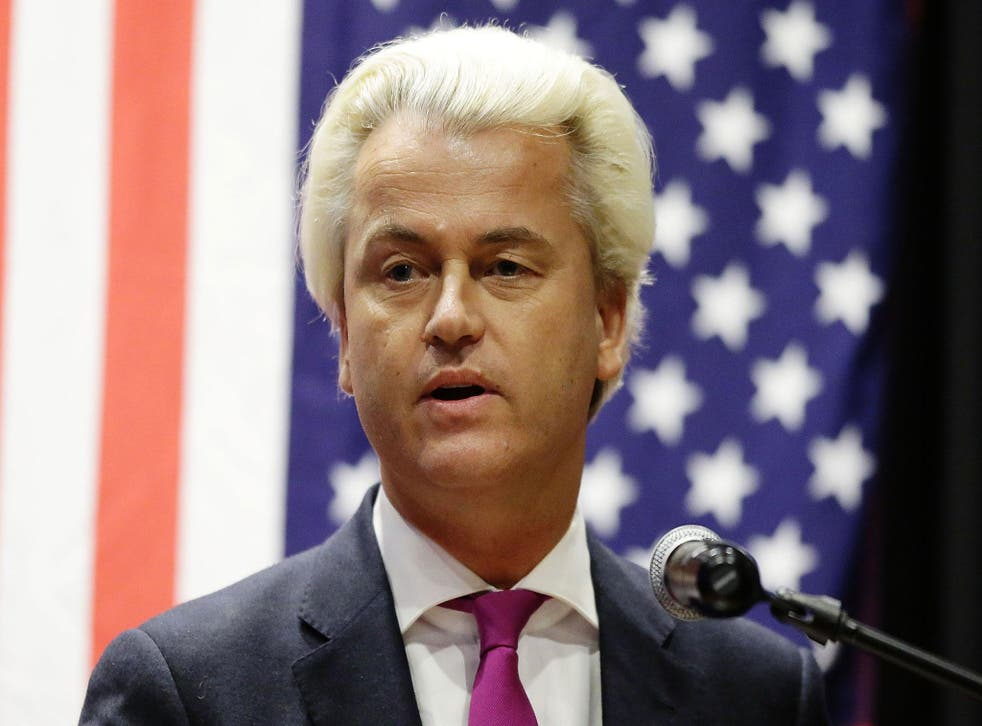 """Geert Wilders said that showing cartoons of the Prophet Mohamed was """"not a provocation"""" (Getty)"""