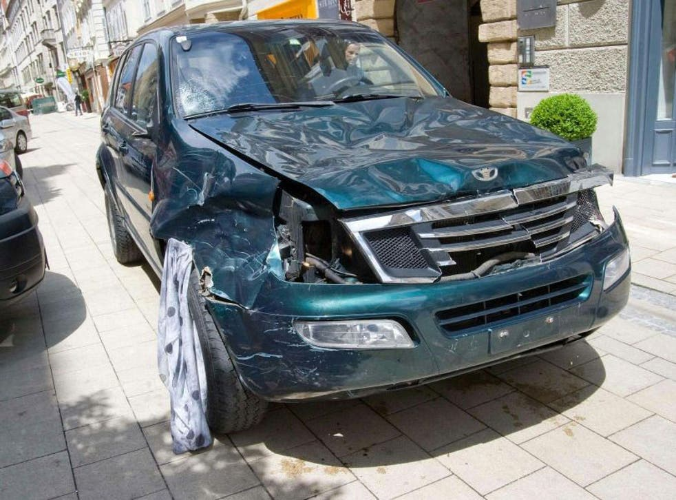 Police said the car was deliberately driven into pedestrians in the centre of Graz